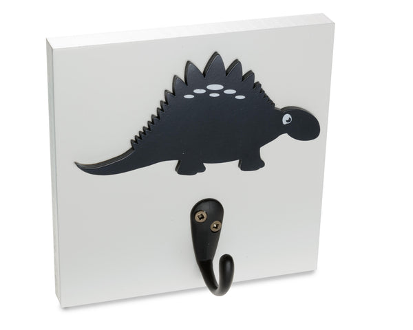 Dinosaur Wall Hook, navy kids room decor, nursery dino coat rack