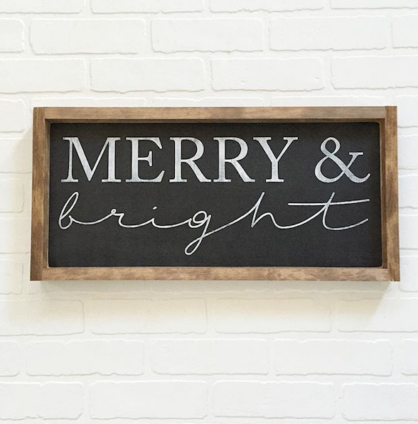 DIY WORKSHOP - Merry & Bright Wood Sign - Dec 14 (Private Party KRISTINA)