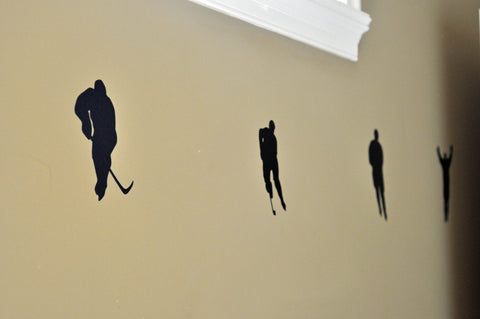Hockey Player Silhouette Wall Decal Stickers