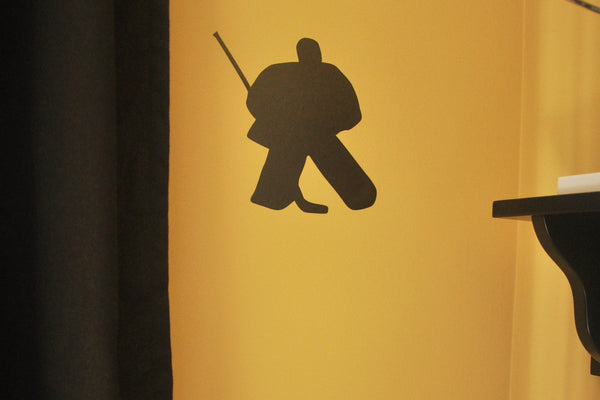 Hockey Goalie Silhouette Wall Decal Sticker