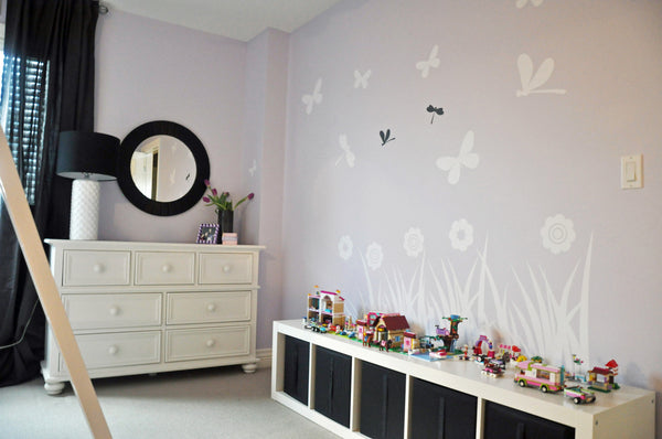 Wall flower decals high resolution photos