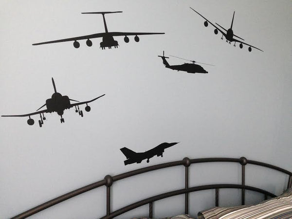 airplane helicopter wall decal home decor vinyl room decor | Homeworks Etc Kids