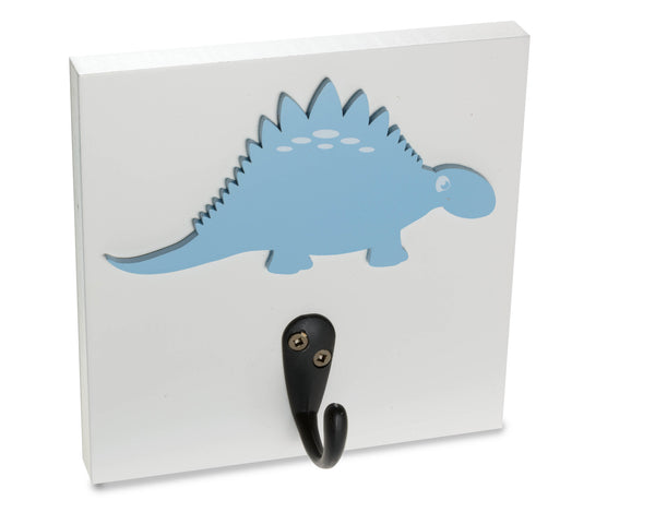 Dinosaur Wall Hook, kids room dino decor, blue