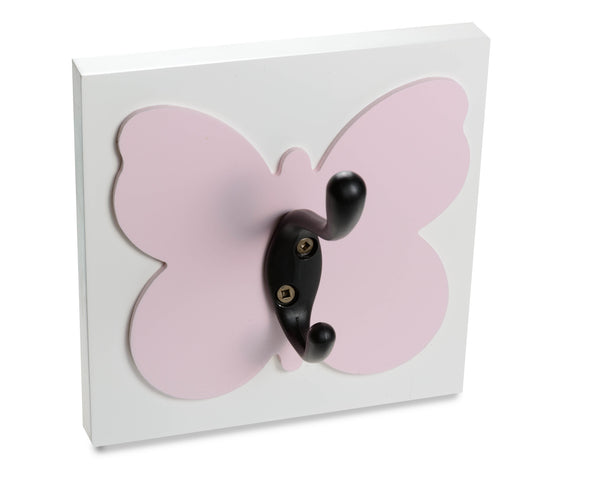 Light Pink Butterfly Wall Hook, Girls room and Nursery