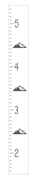 Modern Mountain Growth Chart Design by Homeworks Etc