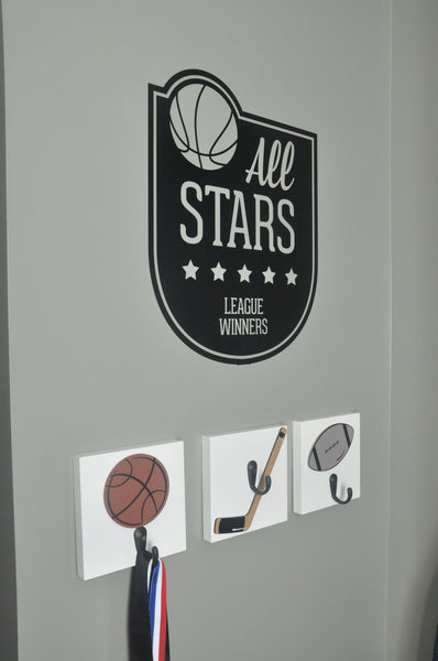 All Star Sports Badge Wall Decal