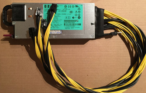 900w/1200w PSU with 4x soldered PCI-E plugs (16AWG cables) (Server-grade HP DPS-1200FB) *Back-order*