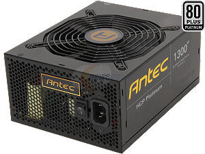 Antec HCP-1300 Platinum 1300W 80 PLUS PLATINUM Certified Full Modular Active PFC Power Supply