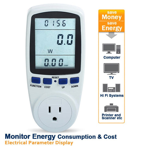 Electricity Load Meter and Monitor (US/CAN North America Plug ONLY) In Stock