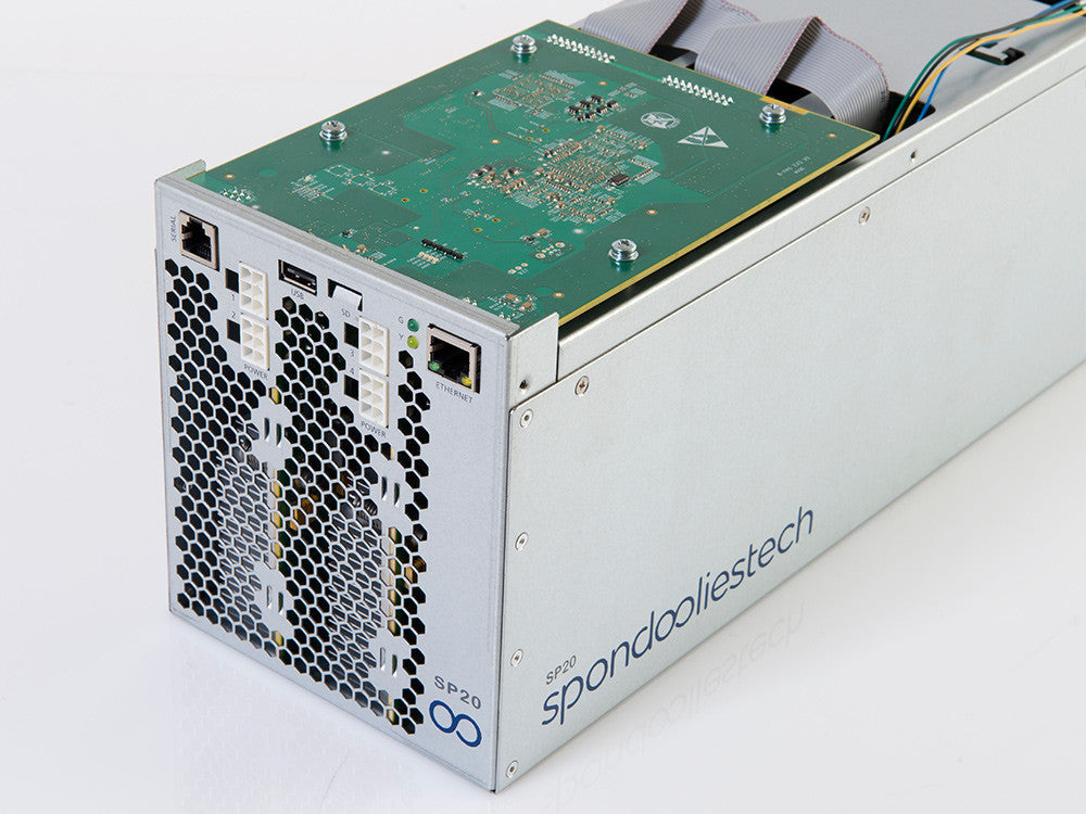 "Spondoolies-Tech SP20 ""Jackson"" - 1.7TH Bitcoin Miner *Limited QTY*"