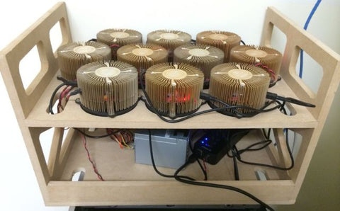 Gridseed ASIC 10 Unit Stackable Crate with Cable Control