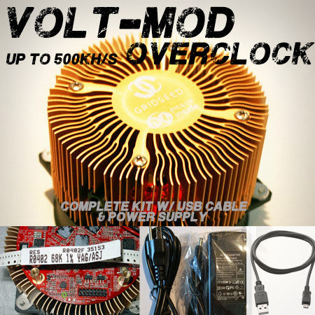 Gridseed ASIC 450-500khs VOLT-MODDED Scrypt Miner (includes USB cable and AC adapter)