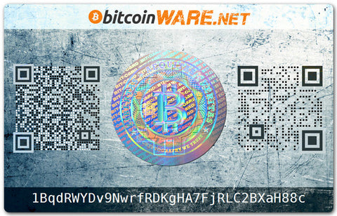 Bitcard Secure BTC Plastic Bitcoin Walletcard