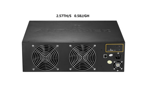 AntMiner S4+ (PLUS) - 2.57 TH/s NEW! BTC Miner (0.58watt/GH/s) *Built-in PSU*