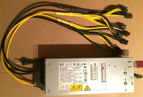 800w/1000w PSU with 8x soldered PCI-E plugs (18AWG Cables) (Server-grade HP DPS-800GBA)