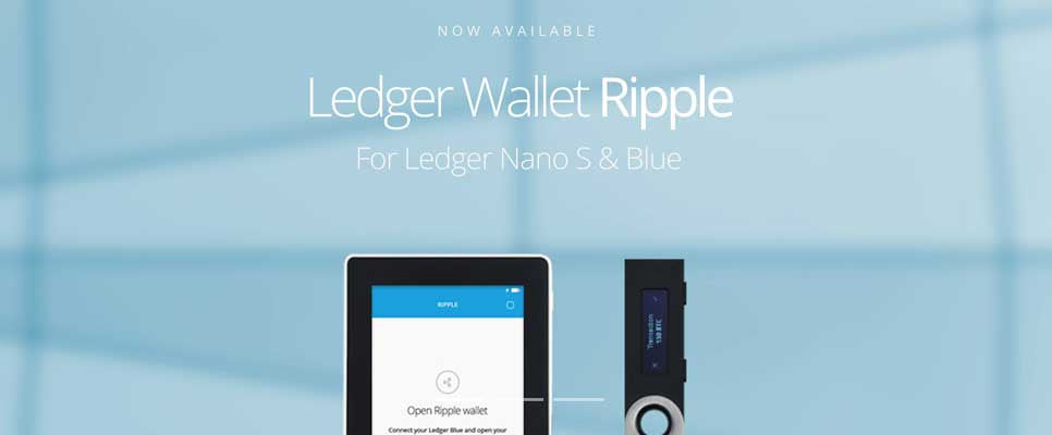 Ripple XRP Support now on Ledger Nano S