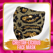 Load image into Gallery viewer, Cheetah-Licious Face Mask