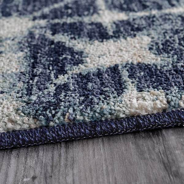 Karastan Rugs Expressions Triangle Accordion Indigo by Scott Living