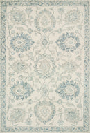 "NOR-04 IVORY / BLUE 2'-6"" x 9'-9"""