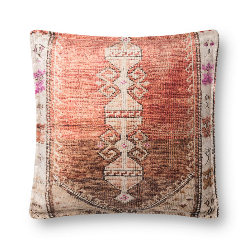 Loloi Pillows P0823 RUST / MULTI