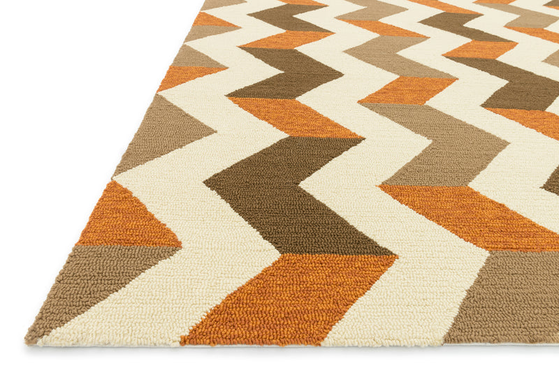 "PM-03 BROWN / ORANGE 5'-0"" x 7'-6"""