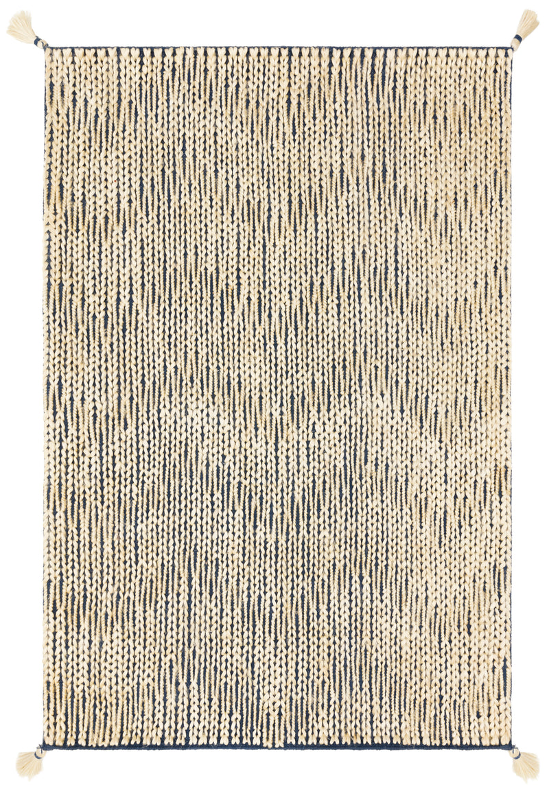 "PLY-01 NAVY / IVORY 1'-6"" x 1'-6"" Sample Swatch"