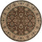SALERNO 2859D BROWN/ IVORY CIRCLE RUG