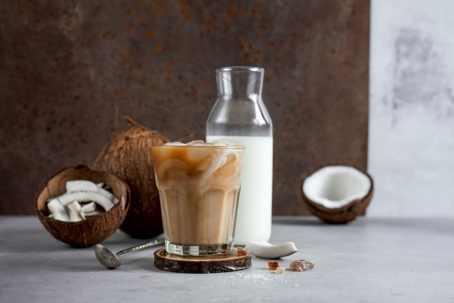 coffee, milk and coconut