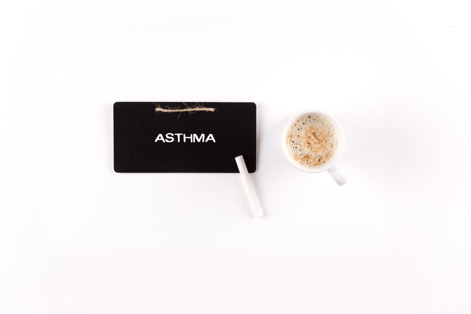 asthma on the board and coffee