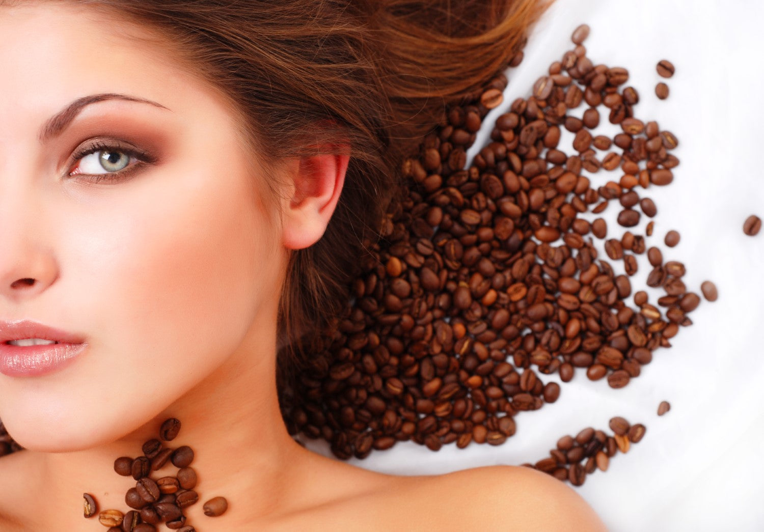 lady with coffee beans on her back