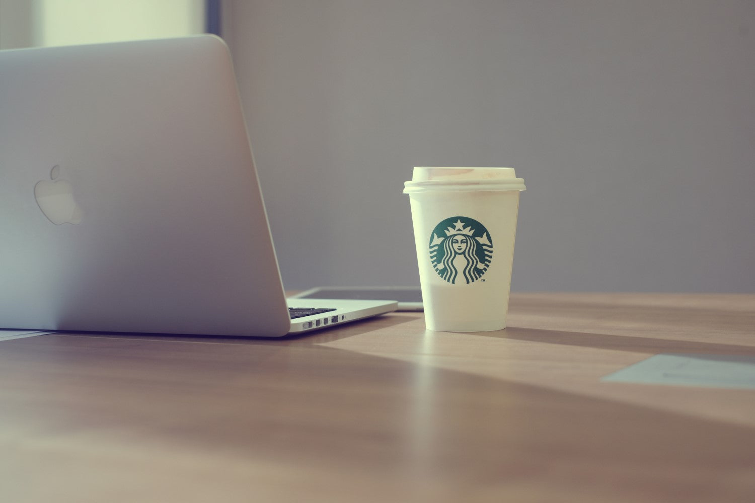 starbucks and laptop