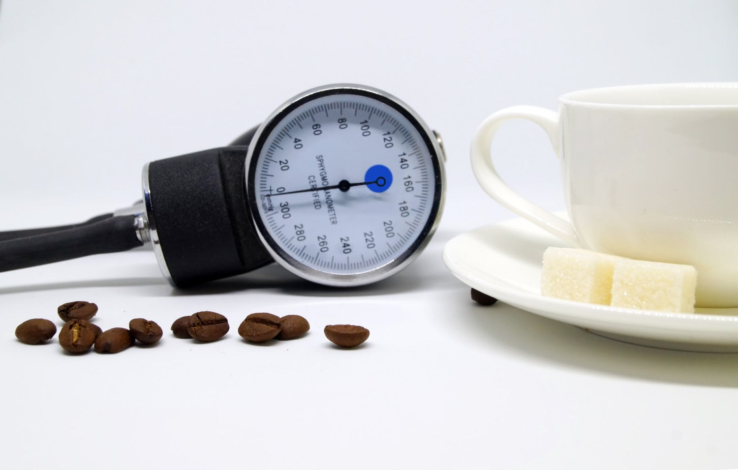 beans, cup and stethoscope