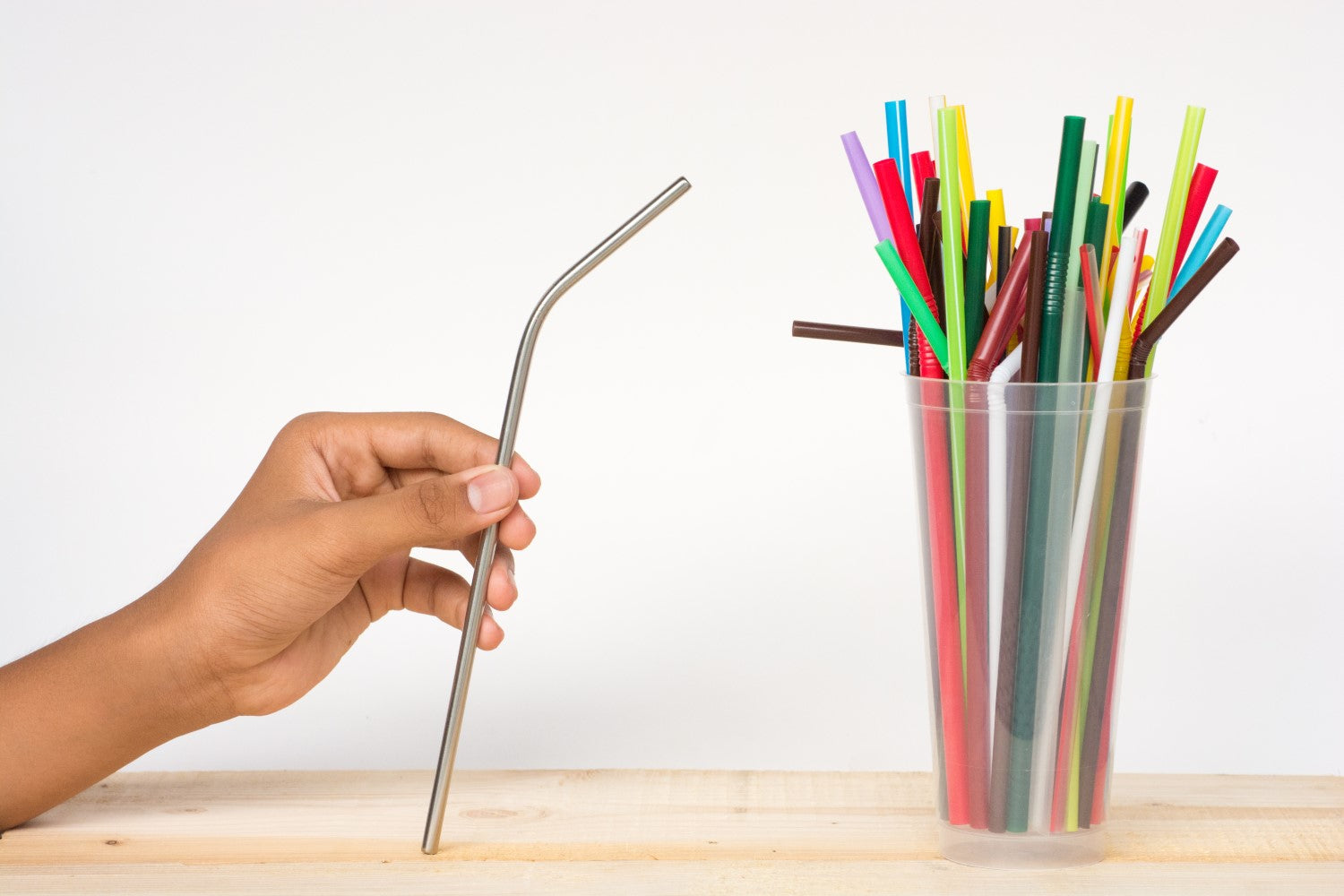 straws in cup