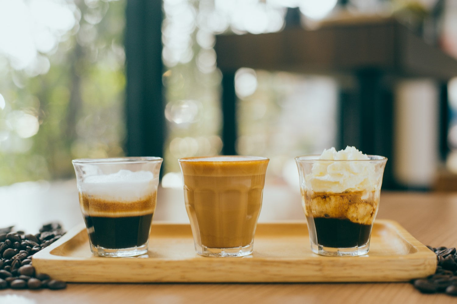 3 different espresso