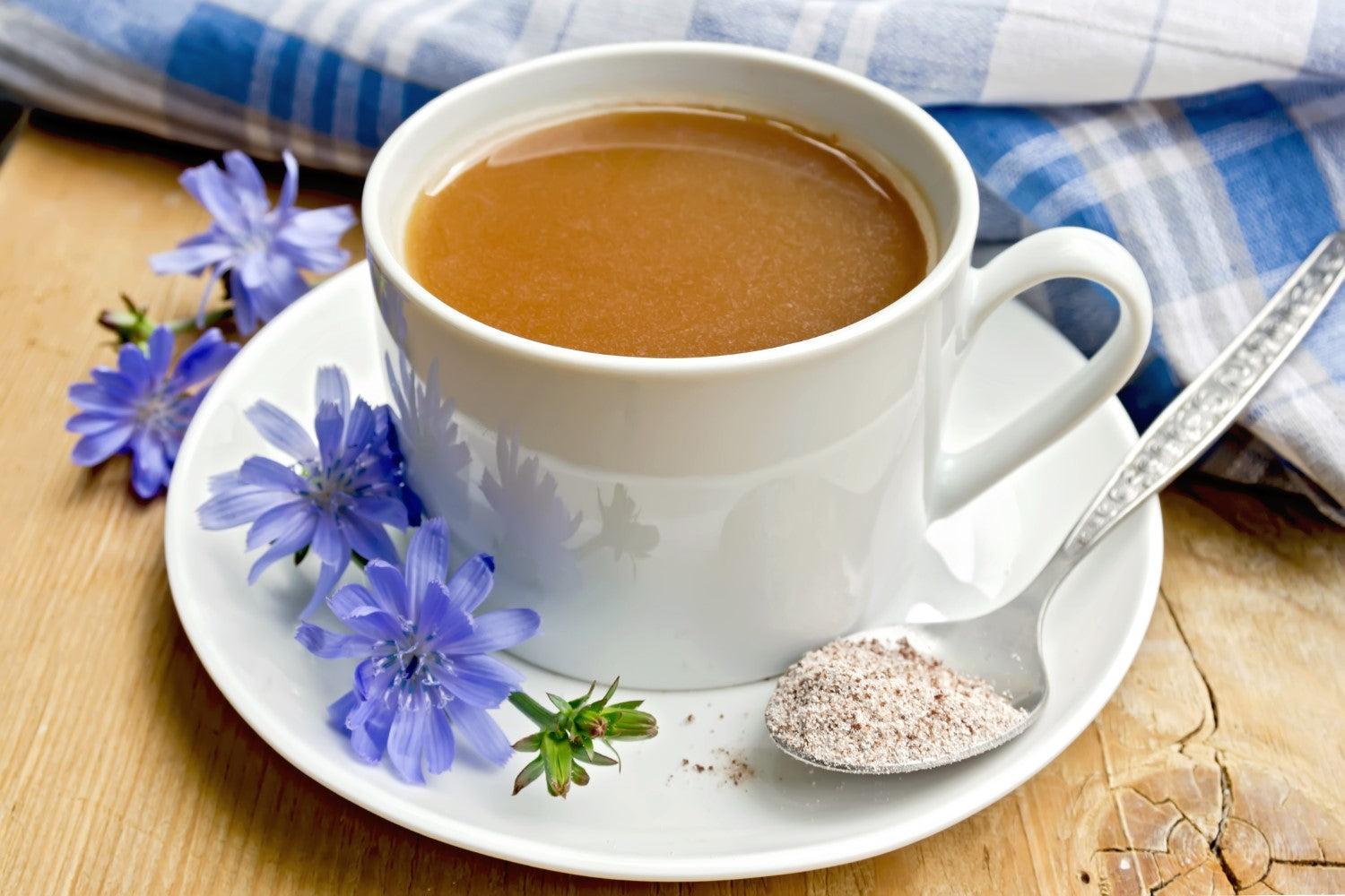 coffee with plant of chicory
