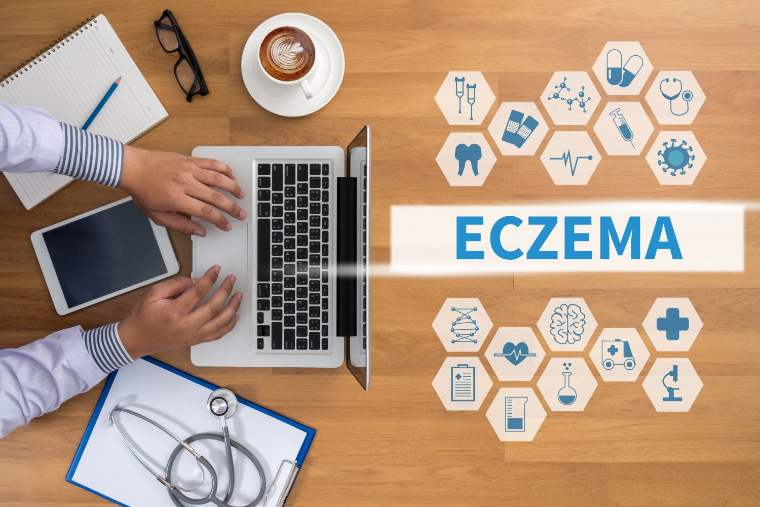 eczema on the table