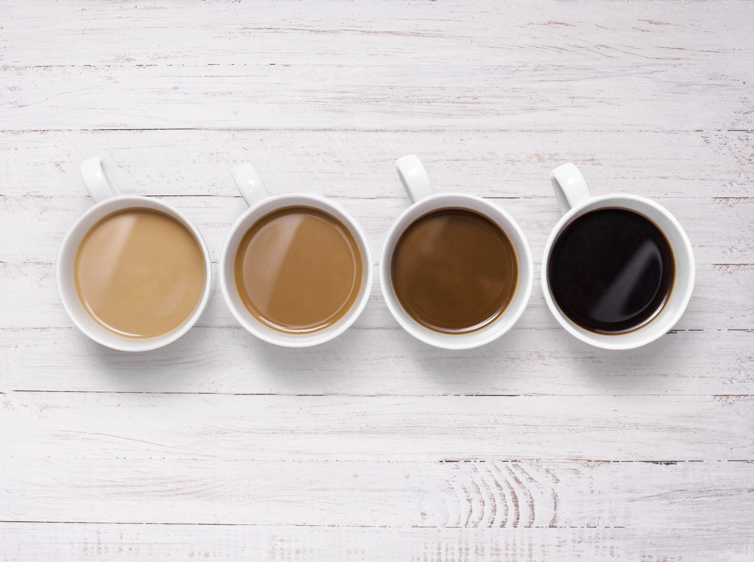4 different coffees