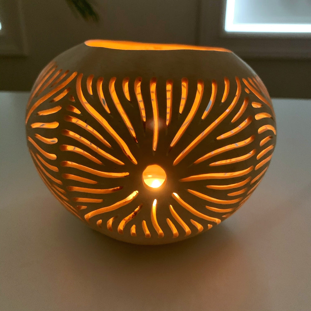 Coconut Candle Holders ~ Rising Sun