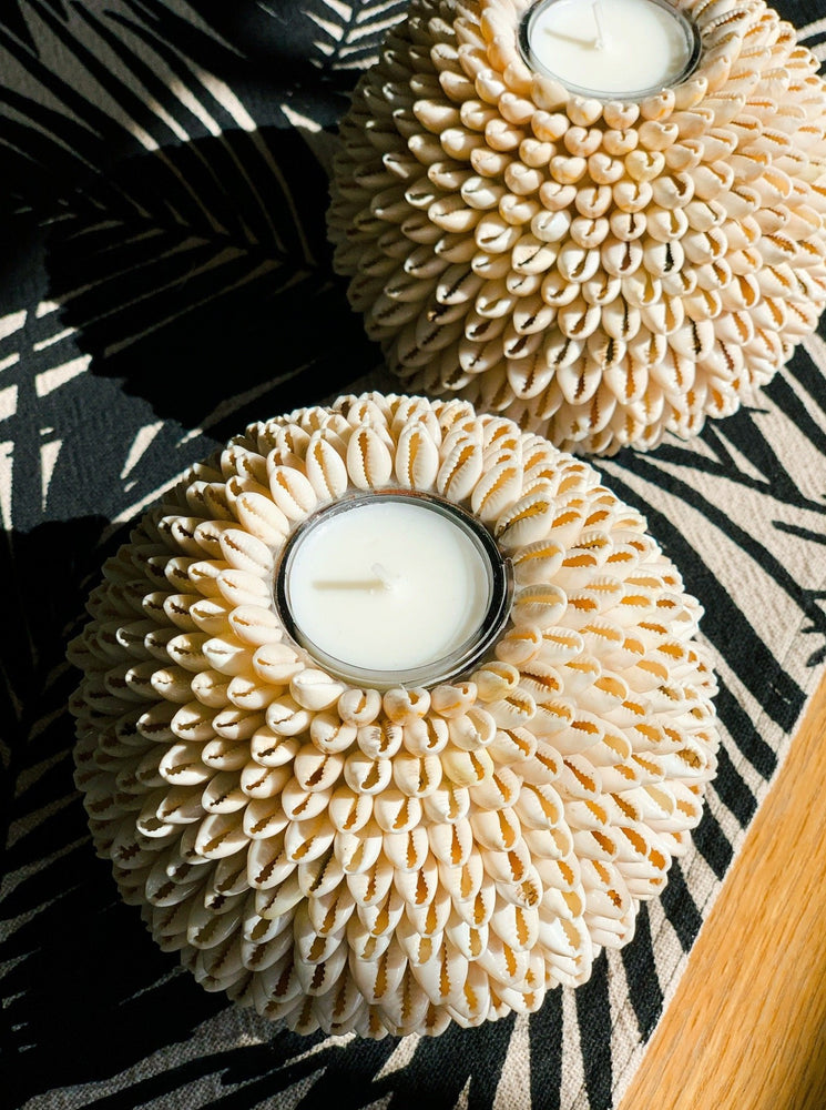 Candle Holder Cowrie Shells