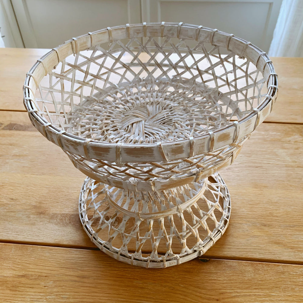 Dulang Rattan Bowl, Whitewash
