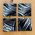 Coasters (set of 4) ~ Palm Leaf Print