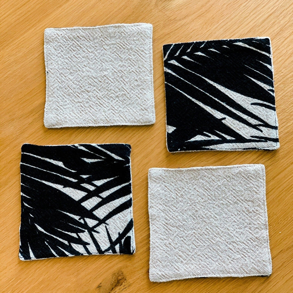 Load image into Gallery viewer, Palm Print Cotton Coasters