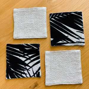 Palm Print Cotton Coasters