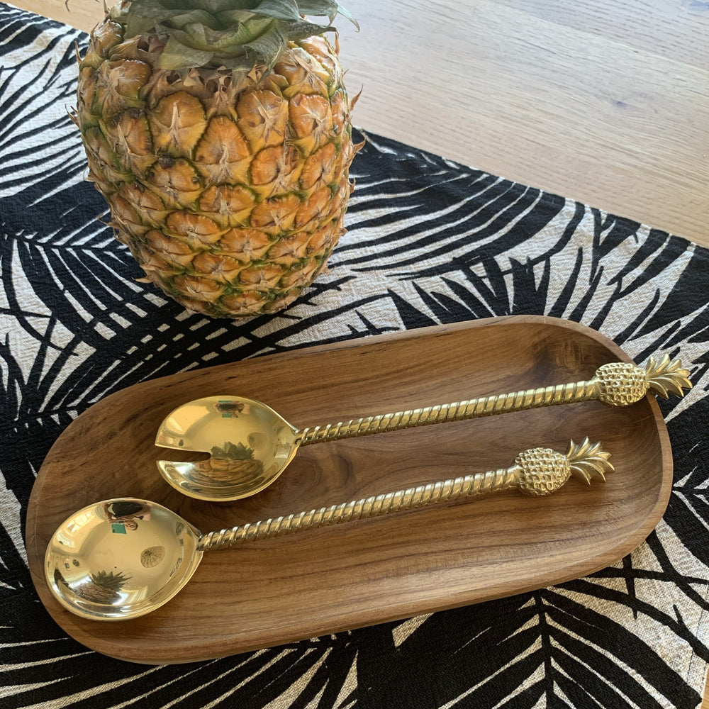 Brass Spoons Oval Tray