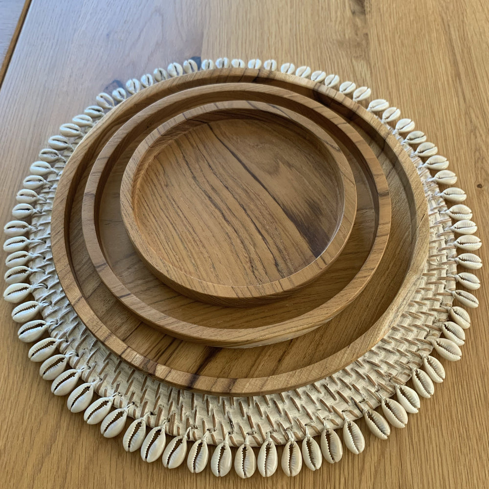 Plates ~ Teak Wood, Set of 3