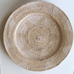 Wall Decor ~ Plate, White washed