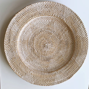 Wall Decor Plate Natural Whitewash