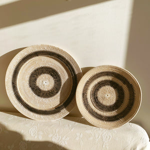 Wall Decor ~ Plates, Black Circles