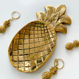 Brass Metal Dish ~ Pineapple