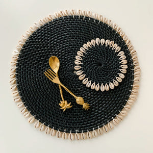 Placemat ~ Beachside, Black